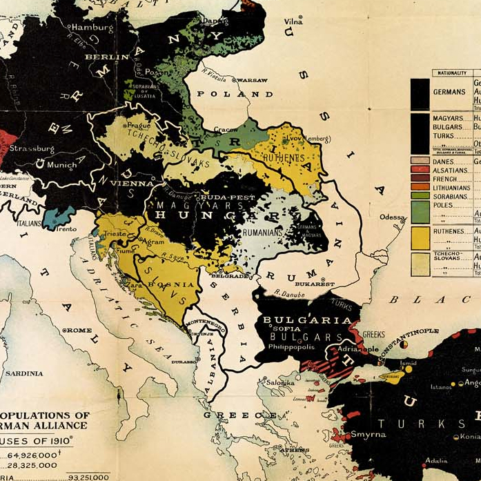 map of the 'German alliance'