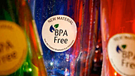 water bottles with BPA free labels