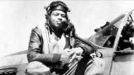 historical photo of an African American WWII pilot