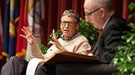 Bill Gates and David Skorton