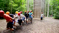 Summer students tackle the Hoffman Challenge Course