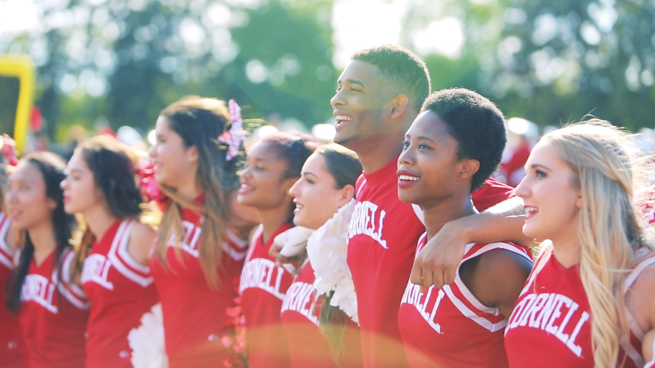 Cornell cheerleaders