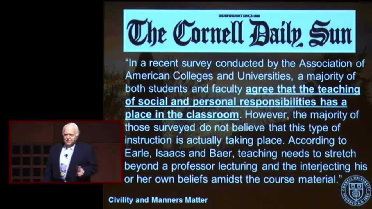 Brian O. Earle: Civility and Manners—Do They Really Matter? - CornellCast