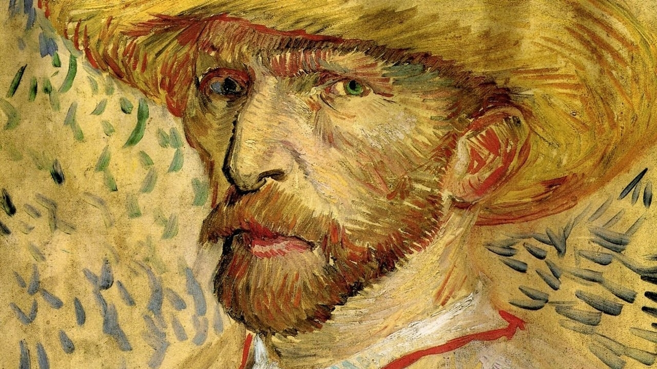 Self-Portrait with Straw Hat, 1887 by Vincent Van Gogh