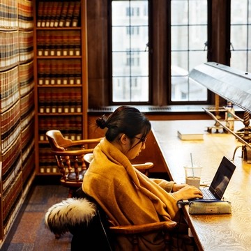 A cozy afternoon at the Cornell Law Library