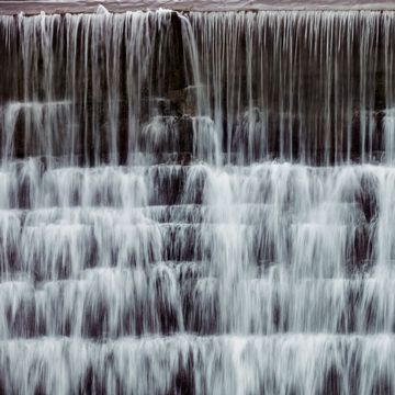 Falls at Cornell University during winter