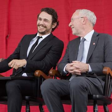 James Franco with Provost Kotlikoff