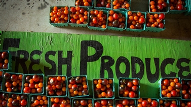 sign reads Fresh Produce