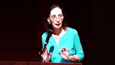 Joyce Carol Oates on stage