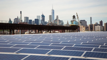 solar panels at Brooklyn Navy Yard