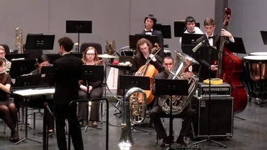 members of Wind Symphony on stage