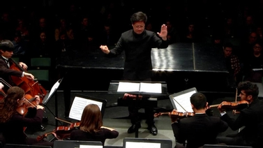 Chris Kim leads the Cornell Symphony Orchestra