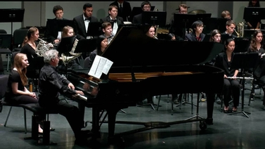 CUWinds with pianist Blaise Bryski