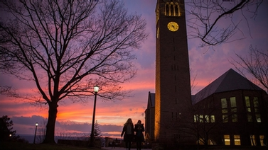 McGraw Tower at sunset