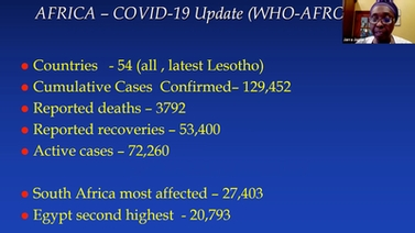 Africa COVID-19 statistics from WHO