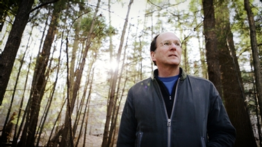 Steve Strogatz walking in the woods