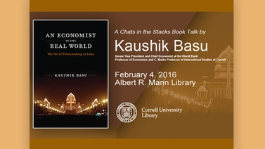 'An Economist in the Real World' book talk by Kaushik Basu
