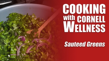 Video thumbnail for Sauteed Greens cooking demo.
