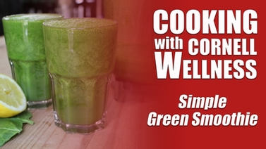 Video thumbnail for simple green smoothie demo.