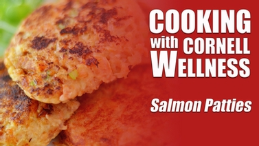 Video thumbnail for salmon patties cooking demo.