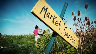 sign reads 'Market Garden'