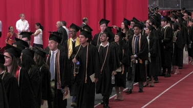Computer Science graduates enter Barton Hall