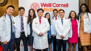 WCM dean with new medical students