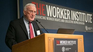 James Gross at a Worker Institute event