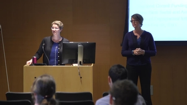 Engaged Cornell presenters Anna Sims Bartel and Amanda Wittman