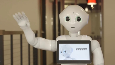 Pepper waves 'hello'