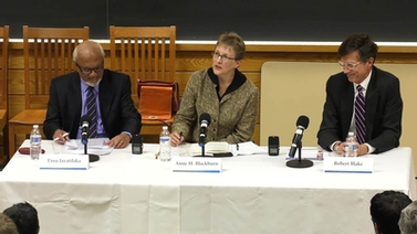 panelists Tissa Jayatilaka, Anne Blackburn and Robert Blake