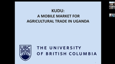 Opening Slide for Kevin Leyton-Brown, Kudu: A Mobile Market for Agricultural Trade in Uganda