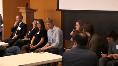 panel of graduate students