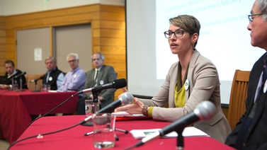 Sarah Brylinski and panelists
