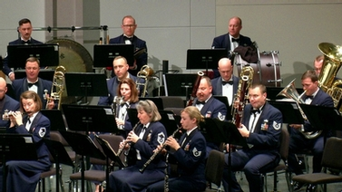 US Air Force Heritage of America Band on stage