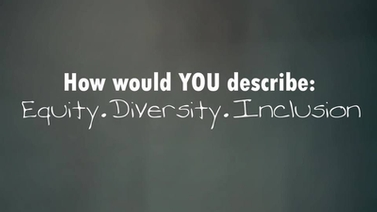 How would you describe: Equity. Diversity. Inclusion