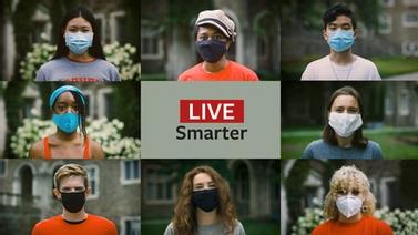 student ambassadors wearing masks