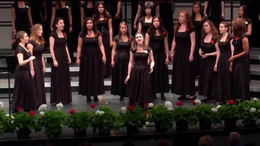 members of the Cornell University Chorus perform at Bailey Hall