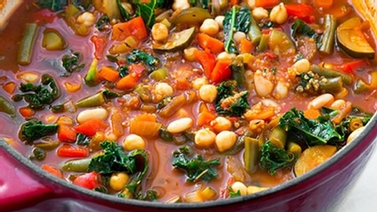 minestrone with kale and quinoa