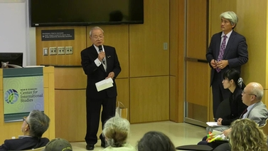 Toyokazu Ihara speaks at Cornell