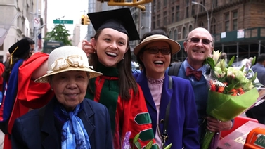 Weill Cornell graduate and her family