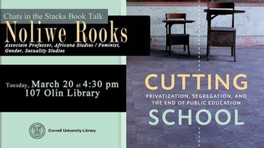 'Cutting School' book talk by Noliwe Rooks