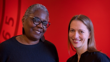 Noliwe Rooks and Kendra Bischoff