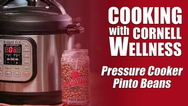Video thumbnail for pressure cooker pinto beans demo.