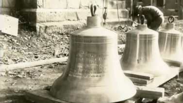 bells on the ground prior to installation