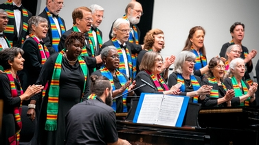 The Dorothy Cotton Jubilee Singers perform at the event