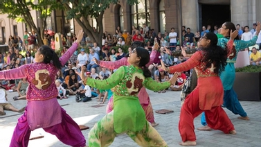 Cornell Bhangra performs at CU Downtown