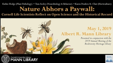 title slide reads, 'Nature Abhors a Paywall'