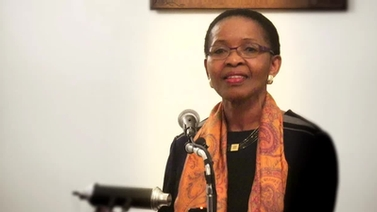 Pumla Gobodo-Madikizela at the podium