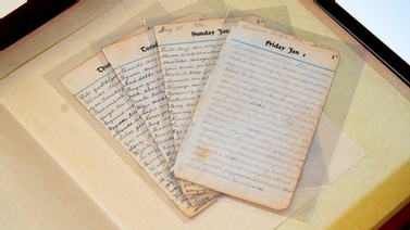 preserved diary pages
